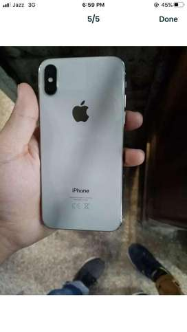 I phone x 256 gb stroge white color