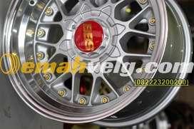 JUAL VELG  R16 BBS silver polish (JAZZ,MOBILIO,LANCER) OEMAH VELG