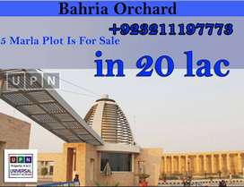5 Marla Plot For Sale In Bahria Orchard, OLC-A Block, Near Bahria Town