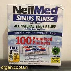 Neilmed Sinus Rinse isi 100 Pcs Premixed (TANPA BOTOL). Original USA.