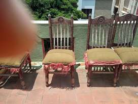 Dining Chairs more than 20 yrs old & Teepoy 9 yrs old for sale