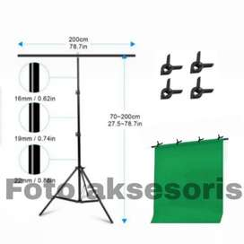 Green Screen Stand T-Shapes Backdrop Photography 200x200cm