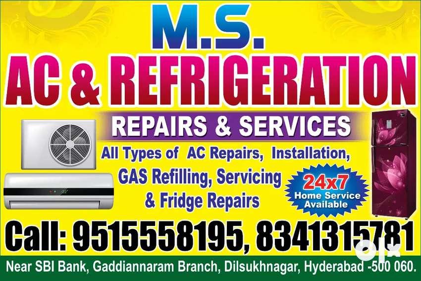 MS AC Repairs & Fridge Repairs AC services AC installation DSNR