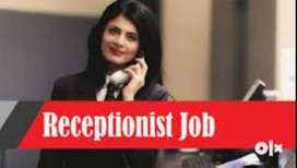 in model town good looking receptionist required