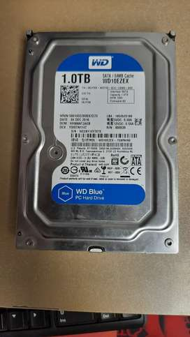1 TB Hard Disk WD 7200 RPM Good Condition