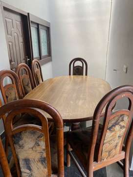 Teak wood didning table with 6 seats for sale