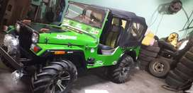 Green and black colour combinations jeep