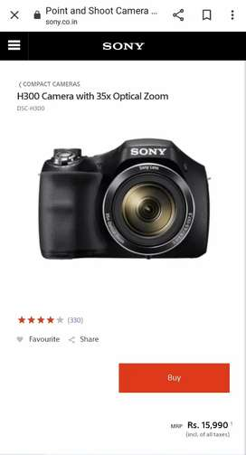 Sony H300 Cyber Shot Camera- 4 years old