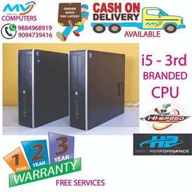 deliverycpu-4GB-RAM-500hard disk-computer/3year warranty@cpu@i5 3rd/i7