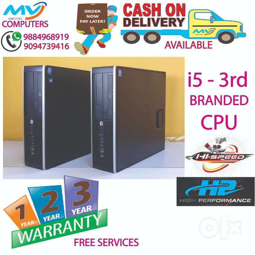 deliverycpu-4GB-RAM-500hard disk-computer/3year warranty@cpu@i5 3rd/i7 0