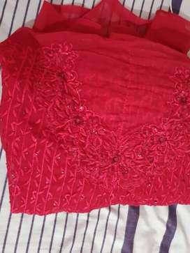 Women red dress