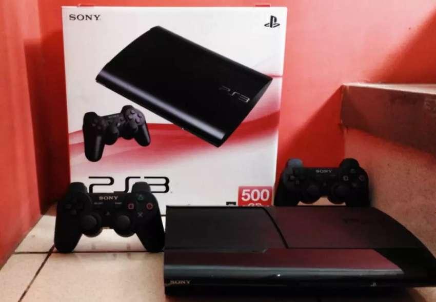 Sony Playstation 3 Super Slim 500GB Full 100 Games lkp 2 Stik 0