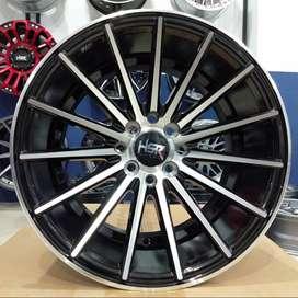 Velg jari jari ring 16 HSR wheel baut 4x100 dan 4x114,3 Black polis