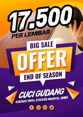 Cuci Gudang !! Lantai Vinyl Sticker Import Murah Di Bali