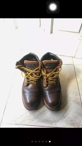 BU boot steel toe/sepatu safety mens club model redwing/Caterpillar 41