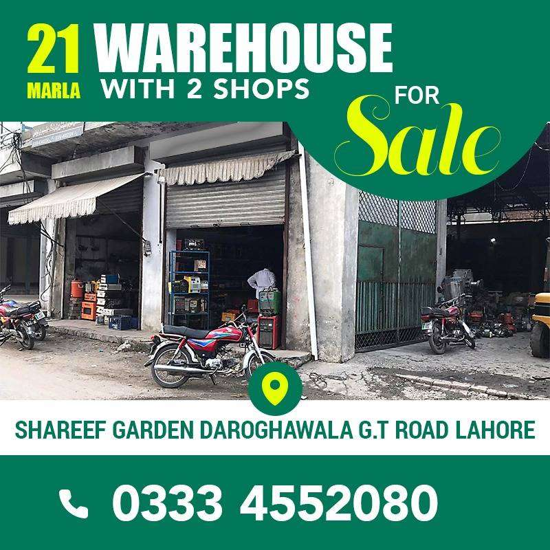 21 Marla Warehouse with 2 shops for Sale 0