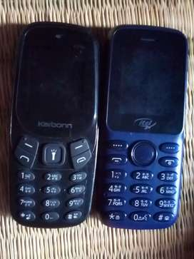 Combo pack of totally new two keypad phones Karbonn and itel.
