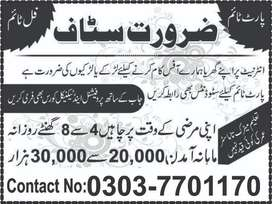 HR Managment Staff Required (limited Seats)