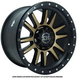 Velg Mobil AMW Rinos R17x9.0 PCD 6x139,7 ET 20 Colorado/Ford Everst