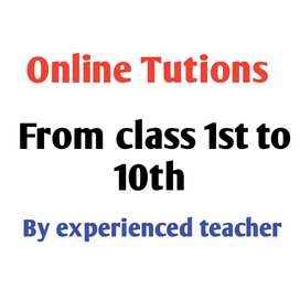 1st to 10th online coaching available 11th, 12th maths