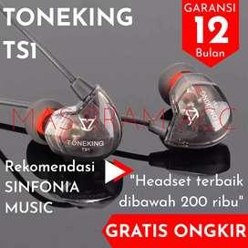 ORIGINAL Toneking TS1 Dynamic non Mic Headset ts 1 Driver Earphone