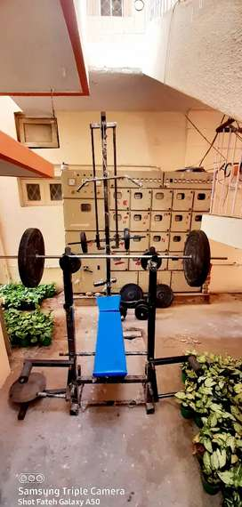 100kg weight with bench and all