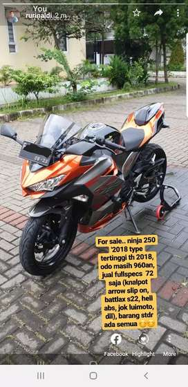 Ninja 250 th 2018 type MDP Abs orange