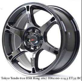 TOKYO TENDO 610 HSR R16X7 H8X100-114,3 ET35 BLACK CHROME