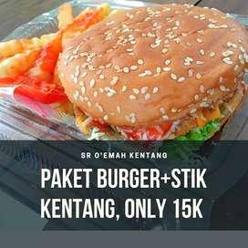 Paket Big Burger + Stik Kentang