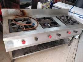 Three Burner restaurant stove - 6 months old for sale