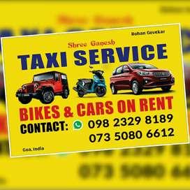 Shree Ganesh Taxi Service and Rent Bike & Car