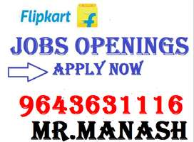 flipkart Company job full time apply in helper,store keeper,supervisor