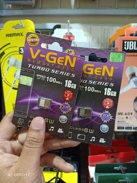 Ready memory card/MMC Vgen 16gb class10 garansi lifetime (Jantung acc)
