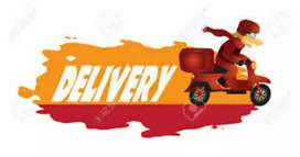 A delivery boy in job