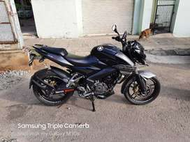 Auto India NS200 blak gray showroom condition clear paper