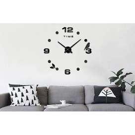 Jam Dinding DIY Giant Wall Clock Quartz Creative Design Model Burung