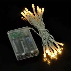 LED Fairy Light Battery Operated Golden Colour