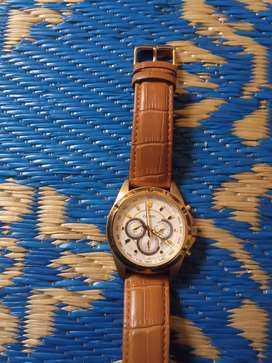 Citizen watch (tachymeter) with good and genuine leather strap