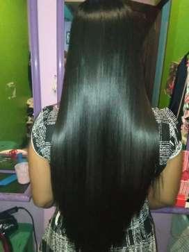 Semoothing keratin untuk rambut panjang hasilnya halus,lembut berkilau