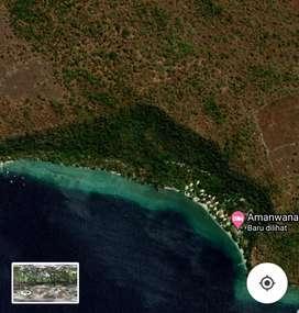 Dijual tanah pinggir pantai di pulau moyo