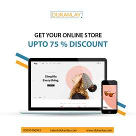 Get your eCommerce Store at 75% Discount