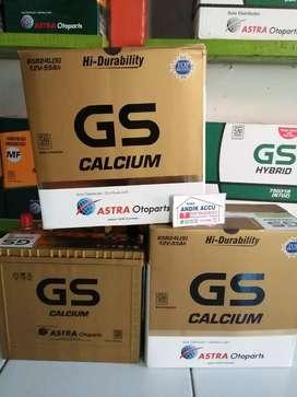 JUAL AKI GS CALCIUM TIPE 65B24L(S) 55Ah ORI ASTRA OTOPARTS HARGA TT