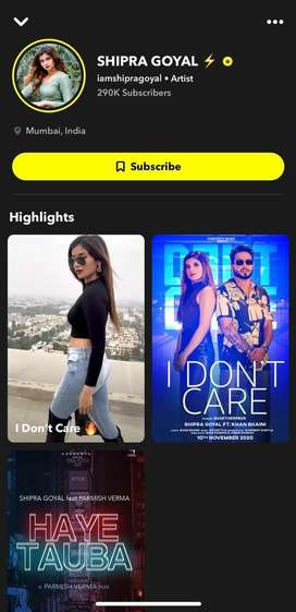 Snapchat subscribe karvon lyi contect karo