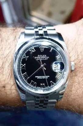 Rolex Datejust saffiar Crystal bubble glass men's watch