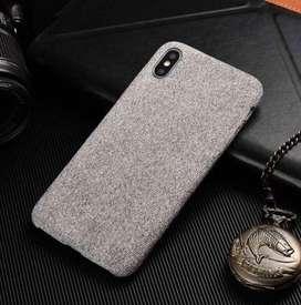 iPhone X/XS Fabric Case- Light Grey