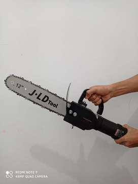 Mesin Gerinda + Mini Chainsaw Gergaji Kayu Gergaji Triplek