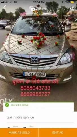 Toyta innova Haryana Number Good car golden coller