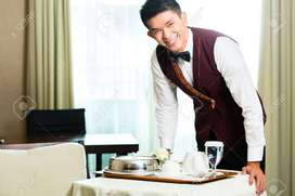 Urgent hiring of service boy in five star hotels club and bar.