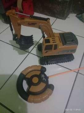 Mainan beko excavator