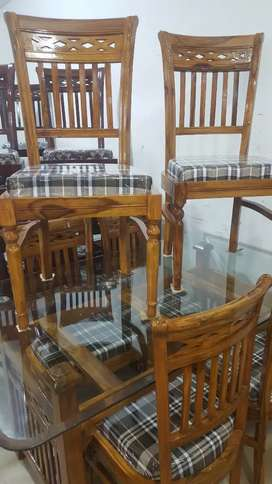 dining tabal set 6 chair shesham wood